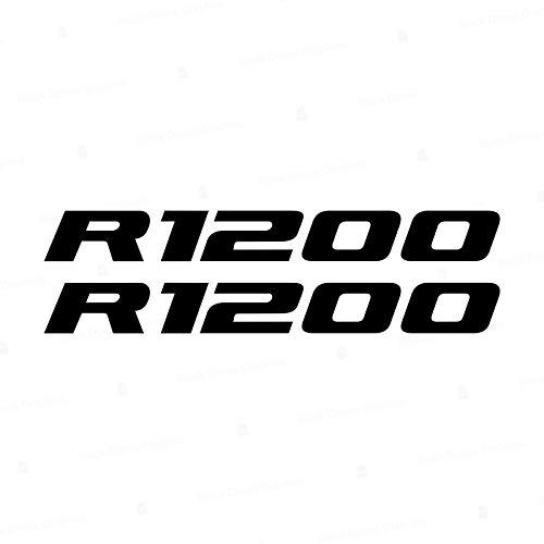 2pcs Adhesivo R1200 Compatible con Motorrad R1200GS Adventure R 1250 GS Moto (Negro)