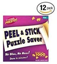 BULK PACK Puzzle Presto! Peel & Stick Puzzle Saver: The Original Way to Preserve Your Finished Puzzle! (12-PACK)