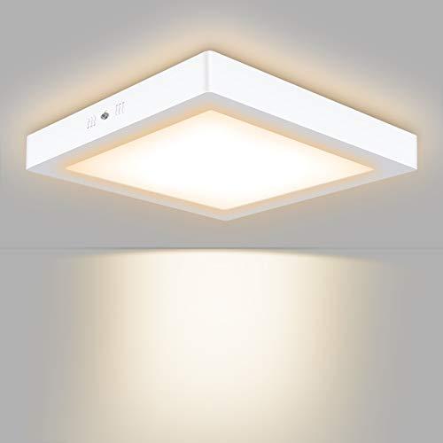 Unicozin LED Deckenleuchte Quadrat, Ersetzt 150W Glühbirne, 24W 2000LM, Warmweiß(3000K), 30x3.8cm, Metall Rahmen Led Deckenlampe, Ideal für Schlafzimmer Küche Wohnzimmer