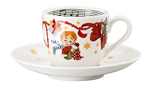 Rosenthal Hutschenreuther Weihnachtslieder 21 'Espressotasse 2-TLG. - Lasst Uns froh. ' 0,08 l / 12 cm