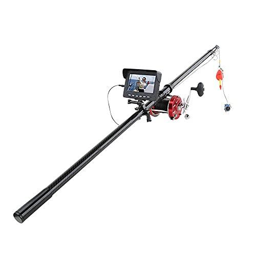 Videocamera da Pesca Subacquea 4,3 Pollici Monitor 10pcs LED Night Vision 195 Gradi Metallo Sea Wheel Camera 30m 1200TVL Fish Finder