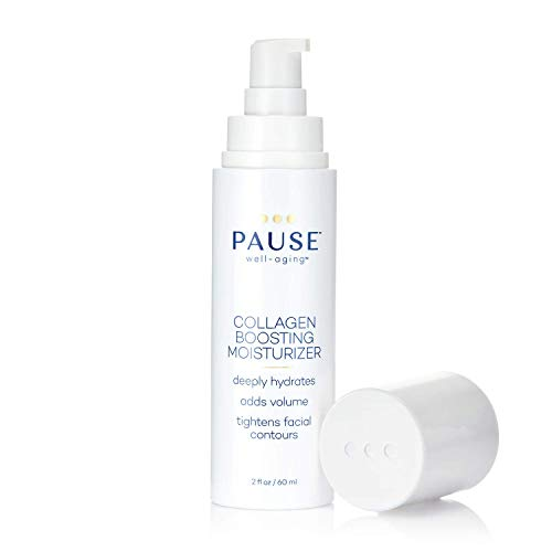 Pause Collagen Boosting Moisturizer   Hydrating Cream, Helps Firm and Tighten During the Stages of Menopause, Adds Volume, Brightens Skin, Increases Elasticity, Tightens, Contours, 2 fl oz/60 mL