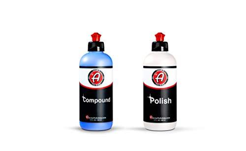 Adam's 2-Step Polishing System 12oz Combo - Silicone-Free, Body Shop Safe Formula - Quick, Professional Correcting and Polishing...
