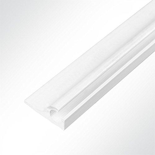 LYSEL® Kunststoff Kederschiene Vorzeltkederschiene weiß 15.50x33.30mm 3 Meter