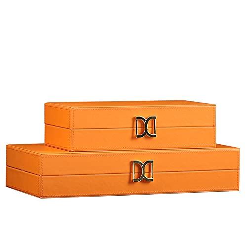 FEIYIYANG Caja Joyero Moderna Caja de Almacenamiento de joyería de Lujo Simple y Ligero para Mujer y para Sala de Estar Decoraciones Suaves de Dormitorio, Amarillo Organizador de Joyas