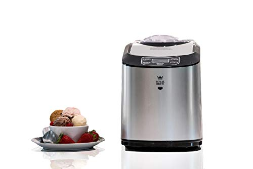 Royal Brew Ice Cream Maker 1.5 Quart Upright Stainless Steel Frozen Yogurt Machine with Built-In Compressor (A1 Stainless Steel)
