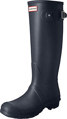 Hunter Damen Back Original Adjustable Gummistiefel, Blau (Navy), 39 EU