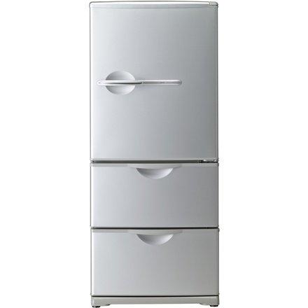 サンヨー 255L 3ドア ノンフロン冷蔵庫(ヘアラインシルバー)SANYO SR-261T-S