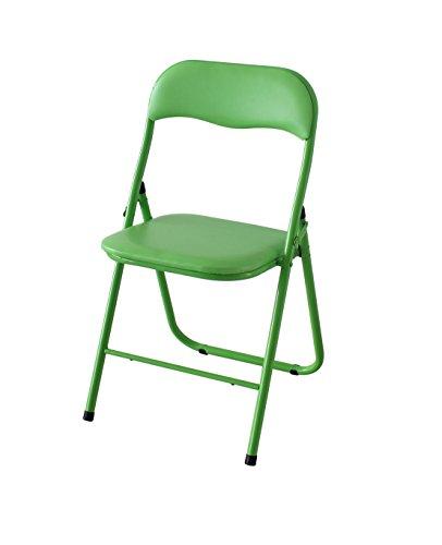 Soliving THIN Lot de 6 Chaises pliantes, Autre, Vert, 44 x 44 x 78 cm