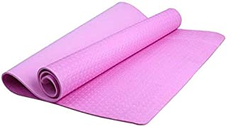 Foldable Yoga Mats Durable 4mm Thickness Yoga Mat Non-slip Exercise Pad Health Lose Weight Fitness,Colour:Purple 瑜伽垫 (Colo...
