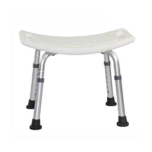 Inicio Accesorios Taburete de ducha Taburete de ducha Silla de baño Asiento de baño - Aluminio ligero - Portátil - Altura ajustable - Taburetes de baño con cojinetes para personas mayores y discapa