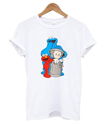 U.niqlo White KAWS X Sesame Street Graphic T Shirt