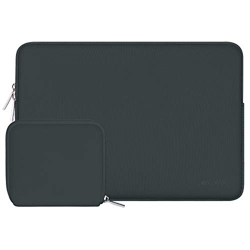 MOSISO Laptop Sleeve Compatible with 13-13.3 inch MacBook Pro, MacBook Air, Notebook Computer, Water Repellent Neoprene Bag with Small Case, Midnight Green