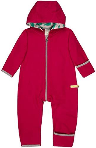 loud + proud Baby-Unisex Overall Fleece Aus Bio Baumwolle, GOTS Zertifiziert Schneeanzug, Rosa (Berry Ber), 92 (Herstellergröße: 86/92)