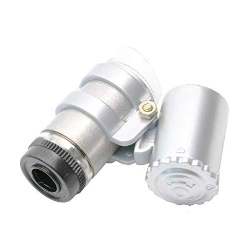 45 keer Pocket Type Verstelbare Focus Band LED Wit Juweel Spiegel Antiek Speciaal Glas Microscoop