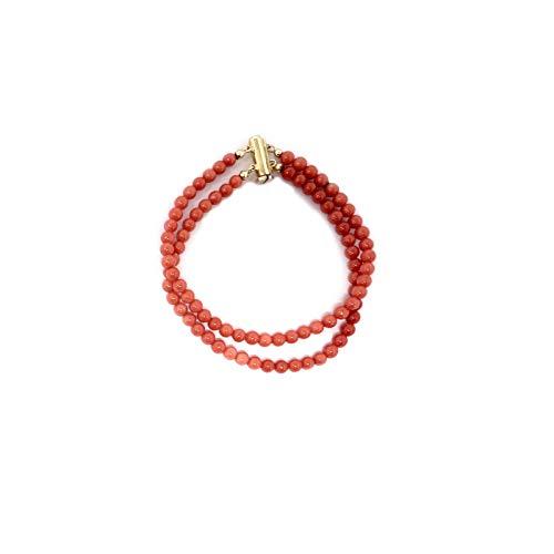 Bracciale in Vero Corallo Rosso Sardegna Rubrum