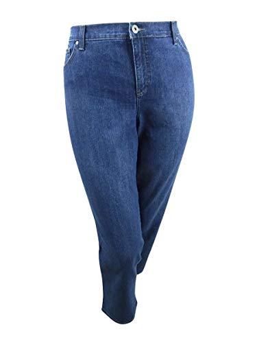 Style & Co. Womens Plus High Rise Tummy Control Straight Leg Jeans Blue 16W -  60127484
