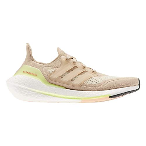 adidas Ultraboost 21 W, Zapatillas para Correr Mujer, Ash Pearl FTWR White Halo Ivory, 38 2/3 EU
