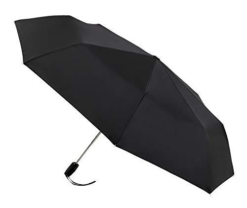 Paraguas Plegable Plano VOGUE. Paraguas automático. Paraguas Hombre Compacto Ideal para Llevar en Carteras de Trabajo. Paraguas antiviento.