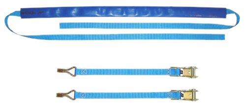 Braun Motorrad Bike-Lashing-Set 800 daN, Farbe blau, Set 4teilig, mit 2 Ratschenteilen