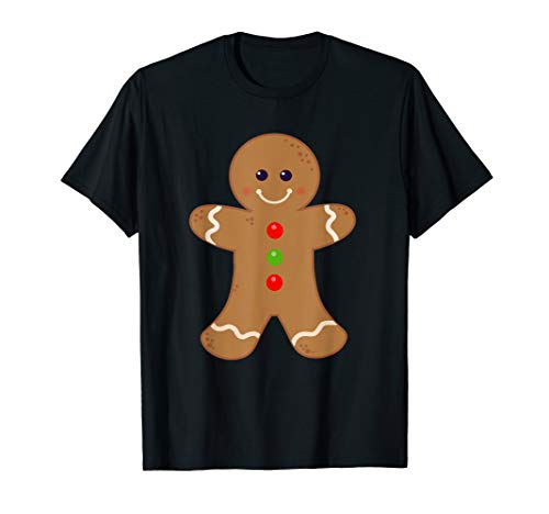 Gingerbread Man Shirt Christmas Cookie Baking Holiday Tee