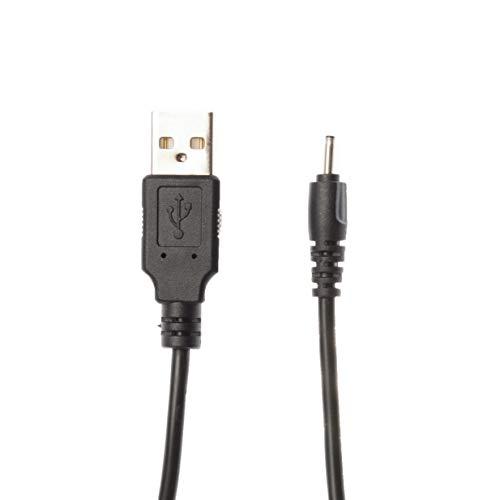 Kingfisher Technologie 90cm USB 5V 2A PC Schwarz Ladegerät Power Kabel Adapter (22AWG) für Nokia X2–00Telefon