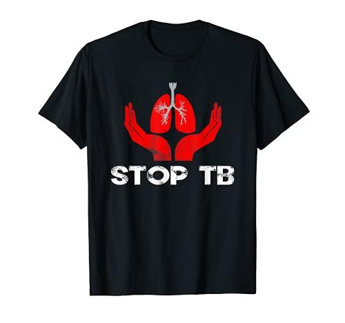Stop TB Tuberculosis Camisa Día Mundial de la Tuberculosis Ropa Camiseta