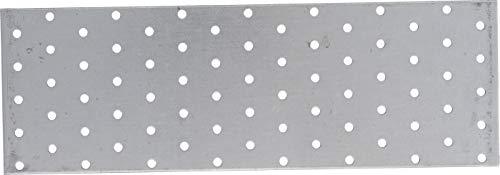 Kraftmann 80787 | Chapa perforada de acero | 300 x 100 mm