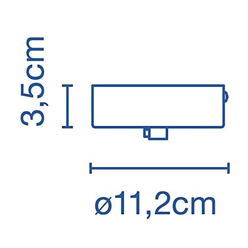Accesorio florón para lámpara Santorini IP65, Color Negro, 11,2 x 11,2 x 3,5 centímetros (Referencia: A654-007)
