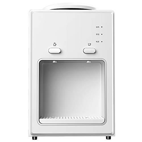 GAYBJ Wasserkühler Dispenser Desktop-Wasser-Zufuhr Elektrische Wasserspender Heiß Kalt Aufsatz- Haushalt Kühlen und Heizen Desktop Office Vertikal,Weiß,Heat