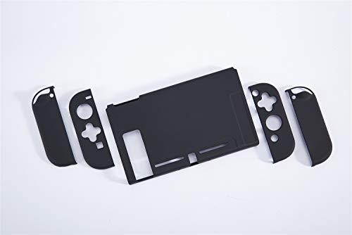 スイッチ ケース 分体式 Nintendo Switch カバー 薄型 Joy-Con用 親指キャップ ニンテンドースイッチ カバー 指紋防止 全面保護 ニンテンド ケース (色 : ブラック, サイズ : ケース)