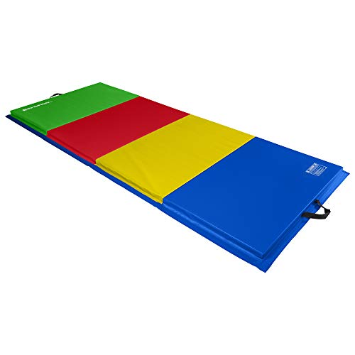 We Sell Mats 4 ft x 10 ft x 2 in Personal Fitness & Exercise Mat, Lightweight and Folds for Carrying, Multicolor