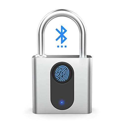 Fingerprint Padlock, Smart Padlock, Bluetooth Lock, Mobile APP, IP66 Waterproof, Biometric Lock, Office, School, Gym, Factory, Garage, Storage, Door, Gate, Sports, Bike, Cabine