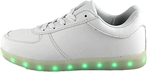 Kirin-1 Unisex LED-Schuhe Atmungsaktive Turnschuhe beleuchten Schuhe für Männer Frauen Jungs-5 Frauen / 3 Männer_Weiß