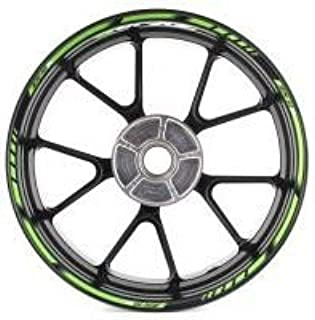 SpecialGP color-matched adhesive rim-striping wheel rim pin stripe pinstriping tape sticker decals for Kawasaki ZX-10R 17-inch wheels