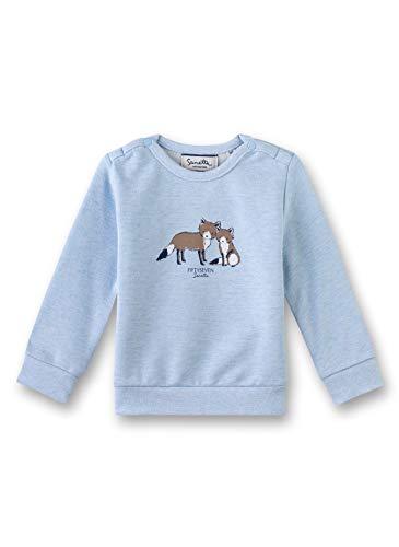 Sanetta Baby-Jungen Sweatshirt, Blau (Fresh Cloud Mel. 50296), 56 (Herstellergröße: 056)