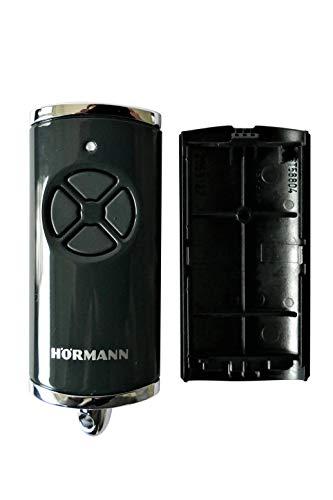 Hörmann Handsender Cover HSE4BS Hochglanz Schwarz Chrom 4510782 Leer Gehäuse ohne Batterie ohne Platine Ersatzteil Ober- und Unterschale