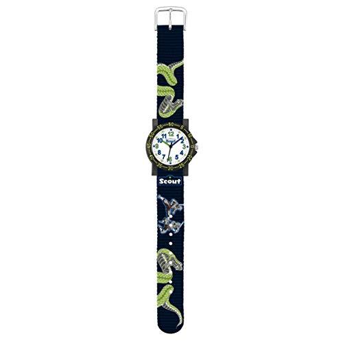 SCOUT Jungen Analog Quarz Uhr mit Stoff Armband 280375014