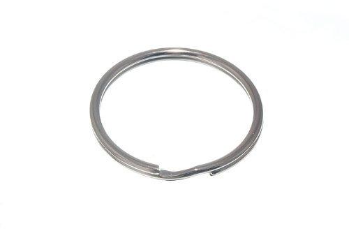 Lot de 100 anneaux fendus clés 38mm 1 1/2 po en acier nickelé