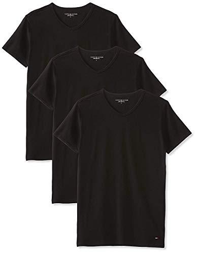 Tommy Hilfiger Herren Vn Tee ss 3 Pack Premium Essentials Unterhemd, Schwarz (Black 990), L (3er Pack)