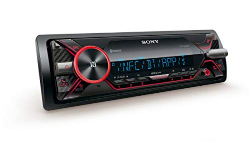 Sony DSX-A416BT - Autoradio multimédia avec technologie Bluetooth Dual (4 x 55 W, Commandes vocales compatible avec Siri Eyes et Android, USB, Dynamic Colour Illuminator), Noir