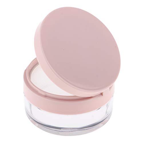 perfeclan Pots Cosmétiques Vide en Plastique, Contenants Cosmétiques avec Couvercle pour Crème Paillette Maquillage Poudre - Rose s