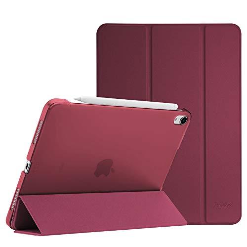 ProCase Hülle für iPad Air 4 Generation 10.9 Zoll 2020, Schutzhülle Case(Unterstützt 2. Gen iPencil Aufladen), Ultra Dünn Leicht Ständer Schal Smart Cover mit Transluzent Frosted Rück –Wein
