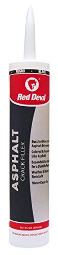 Red Devil 0637 Acrylic Asphalt Crack Filler Sealant, 1 Pack, Black