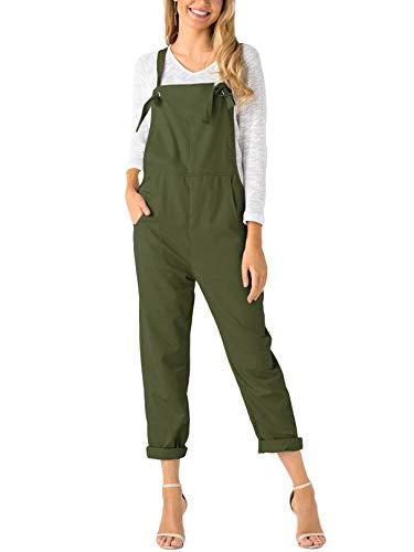 YOINS Mujer Peto de Pantalones Largo Suelto Mono Bolsillos Casual Playa Fiesta Noche Cóctel Verde XXL/EU48