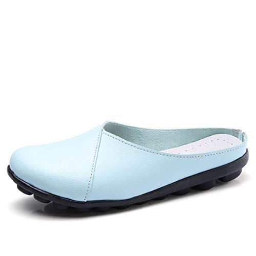 Covermason Zapatos Tacón alto mujer verano 2018, planos suaves de color puro Pisos para mujeres