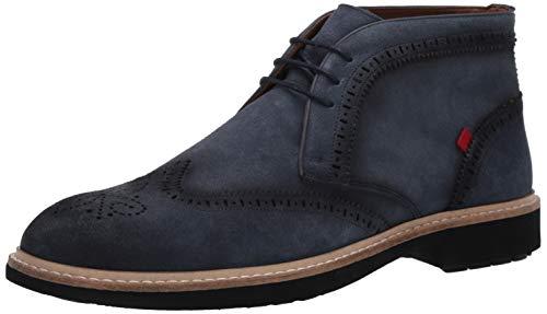 MARC JOSEPH NEW YORK Herren Leather Luxury Ankle Boot with Wingtip Detail Stiefelette, Jeans Wildleder, 39.5 EU