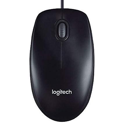 Logitech M90 Ratón con Cable USB, Seguimiento Óptico 1000 DPI, Ambidiestro, PC, Mac, Portátil, Negro