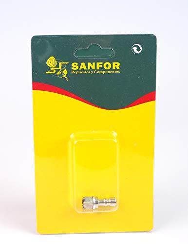 Sanfor 56007 Chimenea Adaptable Olla, Plateado