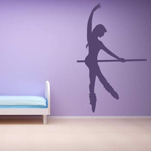 Ballerina Dance Wall Sticker Ballet Pole Wall Decal Girls Bedroom Gym Home Decor
